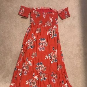 NWT Xhilaration Rust Orange Strapless Maxi Dress